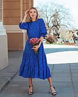 Красивое шифоновое  платье миди