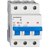 Автоматический выключатель 3P 6А х-ка C Schrack technik