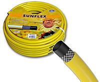 """Шланг поливочный 3/4"""" Sunflex 20 м садовый для полива (садовий поливальний Санфлекс для поливу)"""