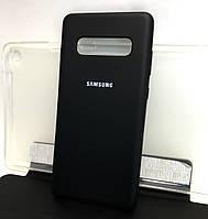 Чехол для Samsung galaxy s10 Plus g975 накладка бампер противоударный черный