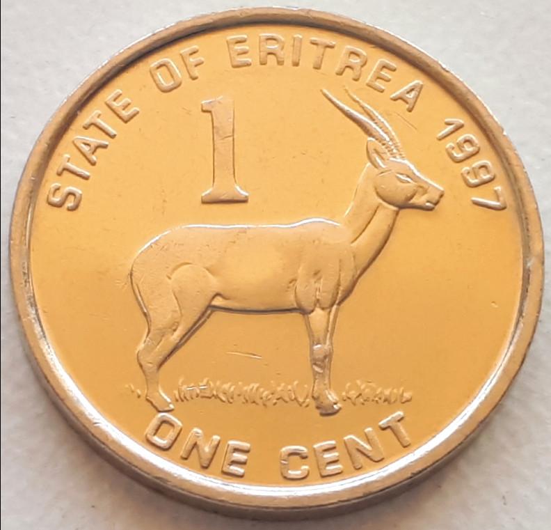 Эритрея 1 цент 1997