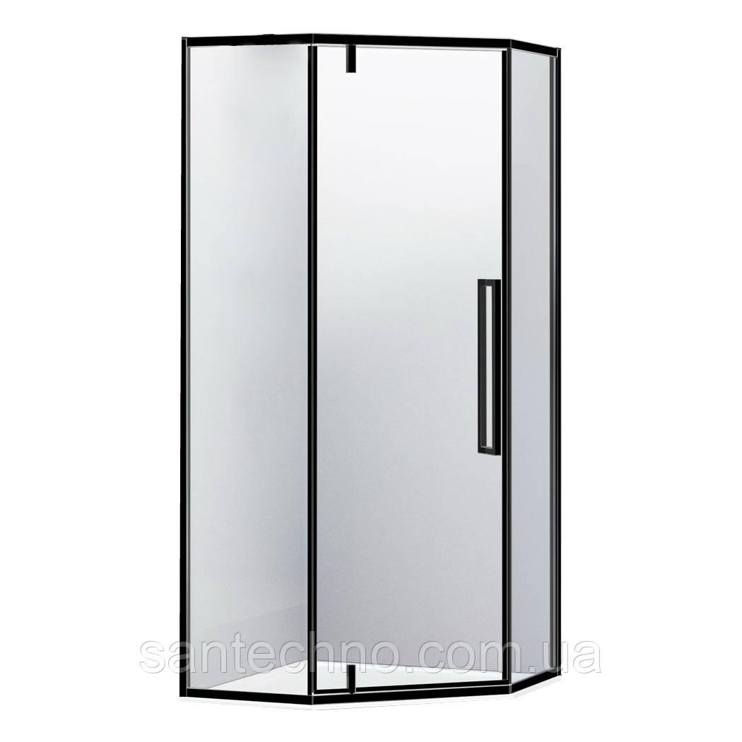 Душевая кабина пятиугольная A LÁNY 1000*1000*1950 (стекла+двери), двери распашные, стекло прозрачное 6