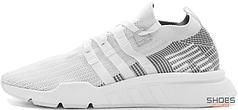 Женские кроссовки Adidas EQT Support Mid ADV Primeknit Ftw White/Grey One CQ2997, Адидас ЕКТ