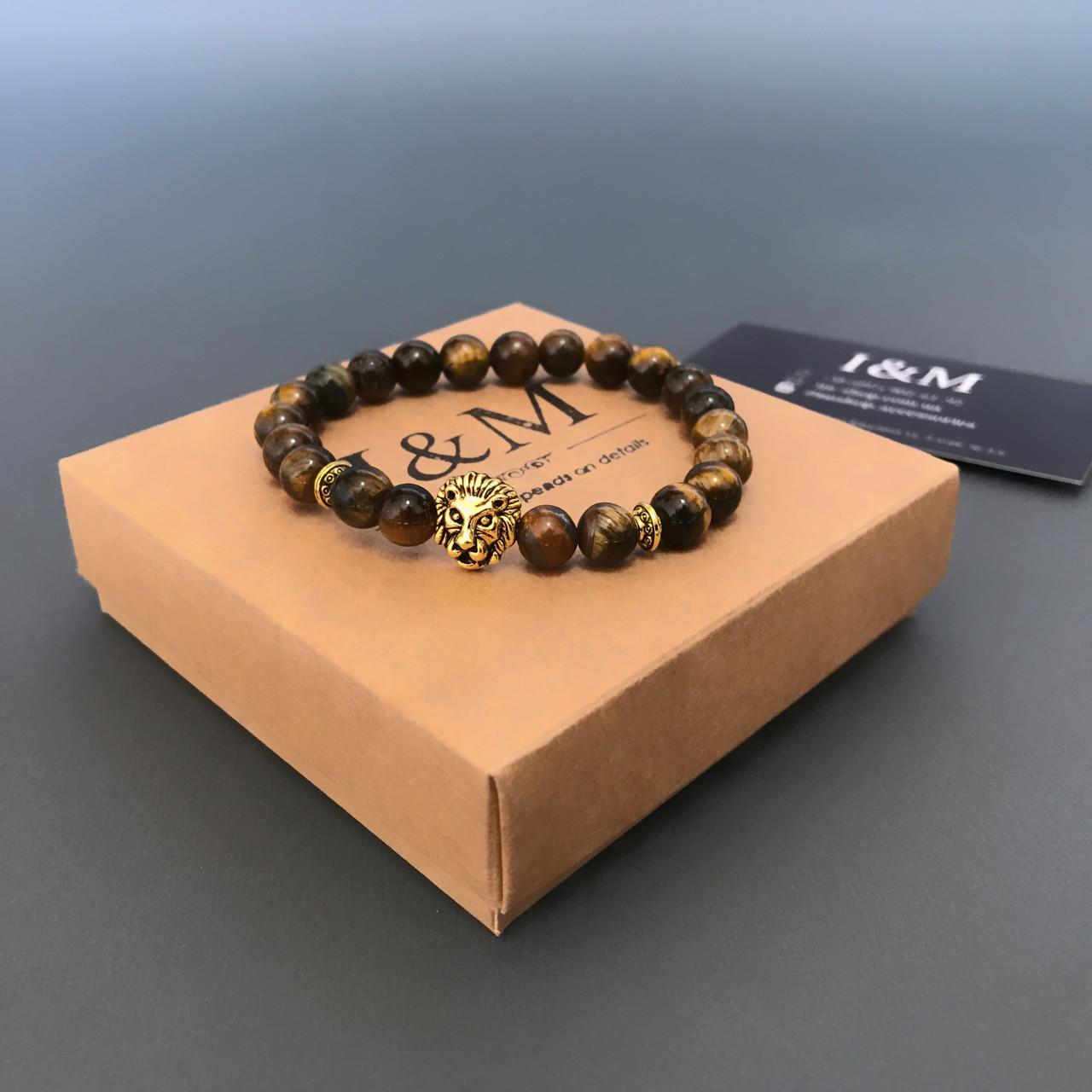 Браслет I&M Craft из камня с головой льва (241021)