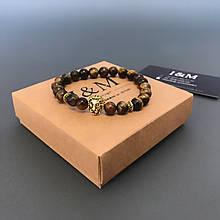 Браслет I&M Craft з каменю з головою лева (241021)