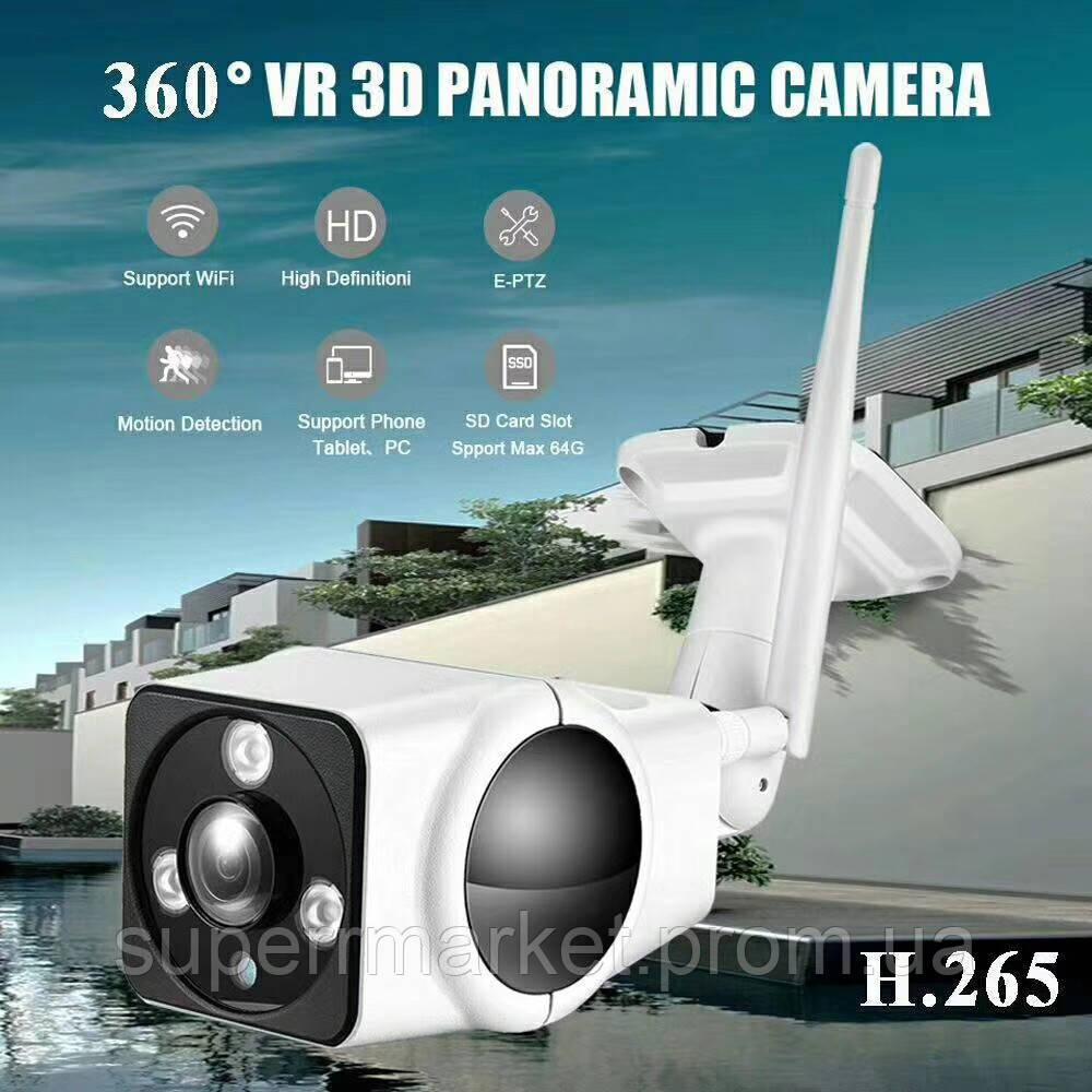 A3-360 v380 Panoramic 360' camera H.265 1080p, защищенная панорамная WiFi камера-регистратор