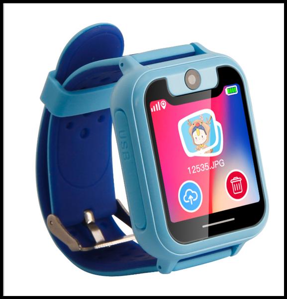 Детские Смарт часы с GPS трекером UNITA T16  с камерой 1,3 МП и фонариком синие