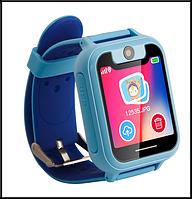 Детские Смарт часы с GPS трекером UNITA T16  с камерой 1,3 МП и фонариком синие, фото 1