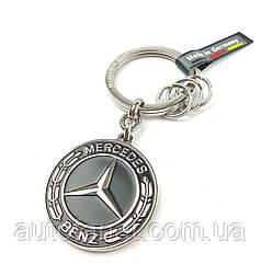 Оригинальный брелок Mercedes-Benz Key Ring, Untertürkheim Stainless Steel, Black/Silver (B66953307)