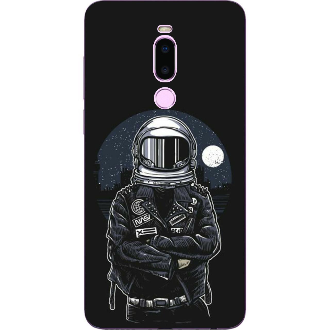 Силиконовый чехол бампер для Meizu Note 8 с картинкой Космонавт