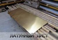 Латунный лист 1,5х600х1500  мягкий