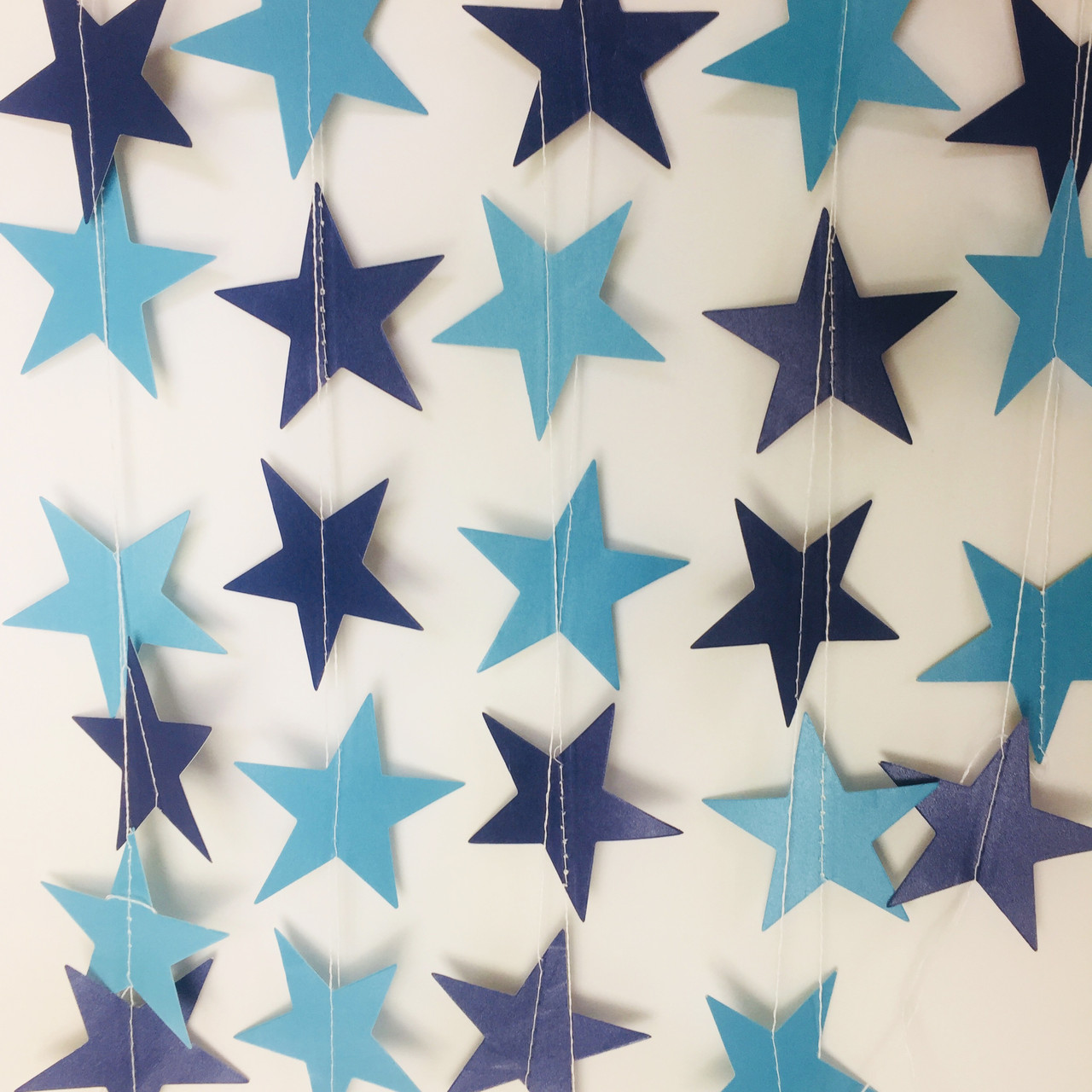 Гирлянда со звездочками для праздника и декора 4 метра сине-голубая