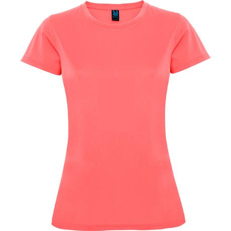 Женская спортивная футболка, коралловый, ROLY MONTECARLO, размеры от S до XXL