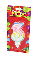 "Тортовая свеча цифра ""3"""