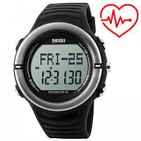 Часы спортивные, фитнес-трекер Skmei 1111, черные, в металлическом боксе