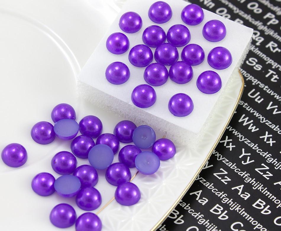 (20 грамм)  Полубусины, полужемчуг Ø8мм (прим. 145-175 шт) Цвет - Фиолетовый