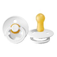 Пустышка BIBS, латексная соска (размер 1; 0-6мес) - белая