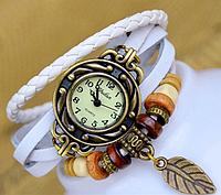 🔝 Женские часы, наручные, с браслетом, в винтажном стиле, цвет - белый | 🎁%🚚