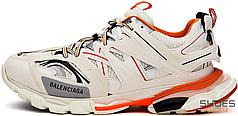 Женские кроссовки Balenciaga Track White/Orange 542436W1GB1, Баленсиага Трек