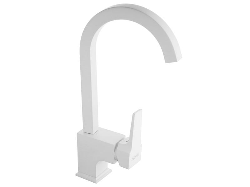 Aqua Смеситель кухонный белый 941881W NEWARC