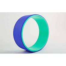 Колесо для йоги Fit Wheel Yoga зеленый-фиолетовый