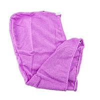 ✅ Тюрбан-полотенце для сушки волос Shower cap - фиолетовый