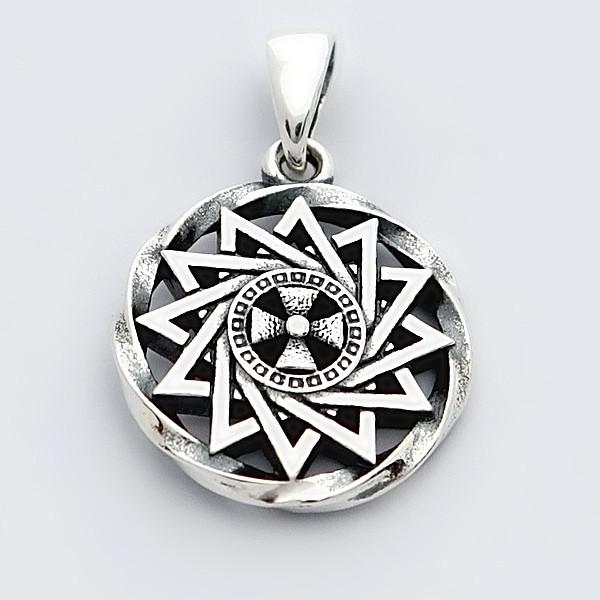 Славянский оберег из серебра 925 пробы звезда эрцгаммы