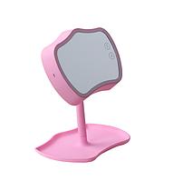 🔝 Зеркало с подсветкой, Розовое, зеркало с подсветкой настольное, зеркало для макияжа, Mirror Lamps | 🎁%🚚