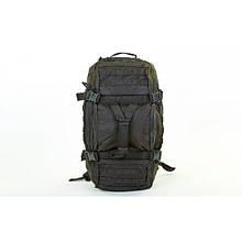 Сумка-рюкзак трансформер тактический (черный )