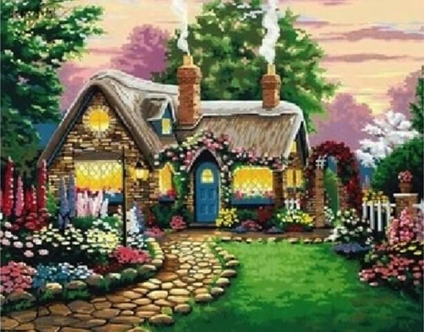 Картина по номерам Маленький сказочный домик КНО047 Идейка