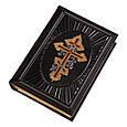 Библия в кожаном переплете индексированными страницами и крестом, увитым виноградной лозой (М2), фото 3