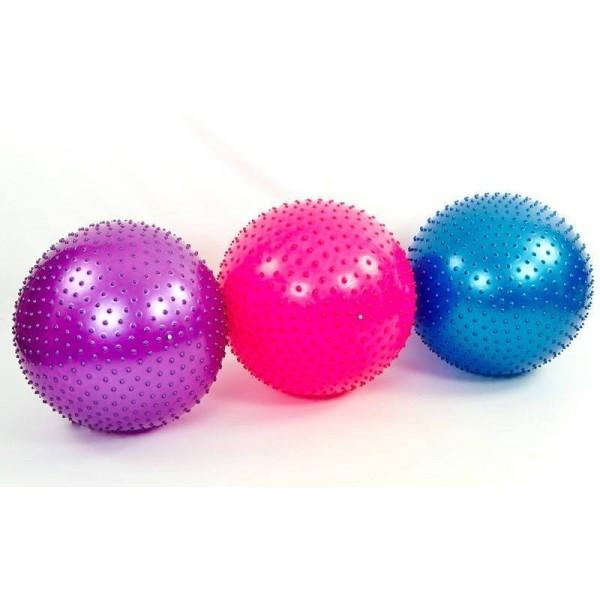 Мяч для фитнеса (фитбол) массажный 75см  1400 г.