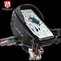 """Велосипедная сумка на руль WHEEL UP 010-4 для смартфонов до 6"""""""