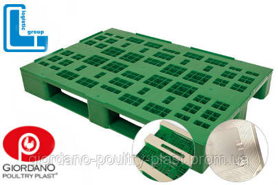 Поддон пластиковый 1200х900х160 мм с закрытой пяткой