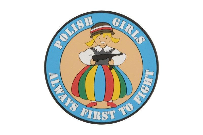 """Emblemat """"POLISH GIRLS"""" - PVC - Niebieski [HELIKON-TEX]"""