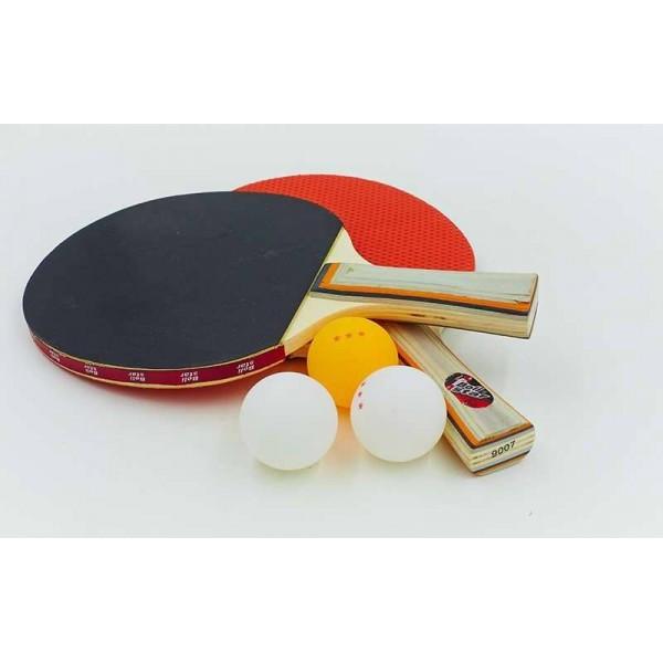 Набор для настольного тенниса Boli prince NT-9 (древесина, резина, уп. блистер)