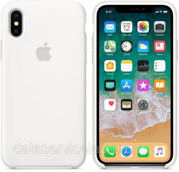 Чехол накладка для iPhone X/XS Silicone Case White