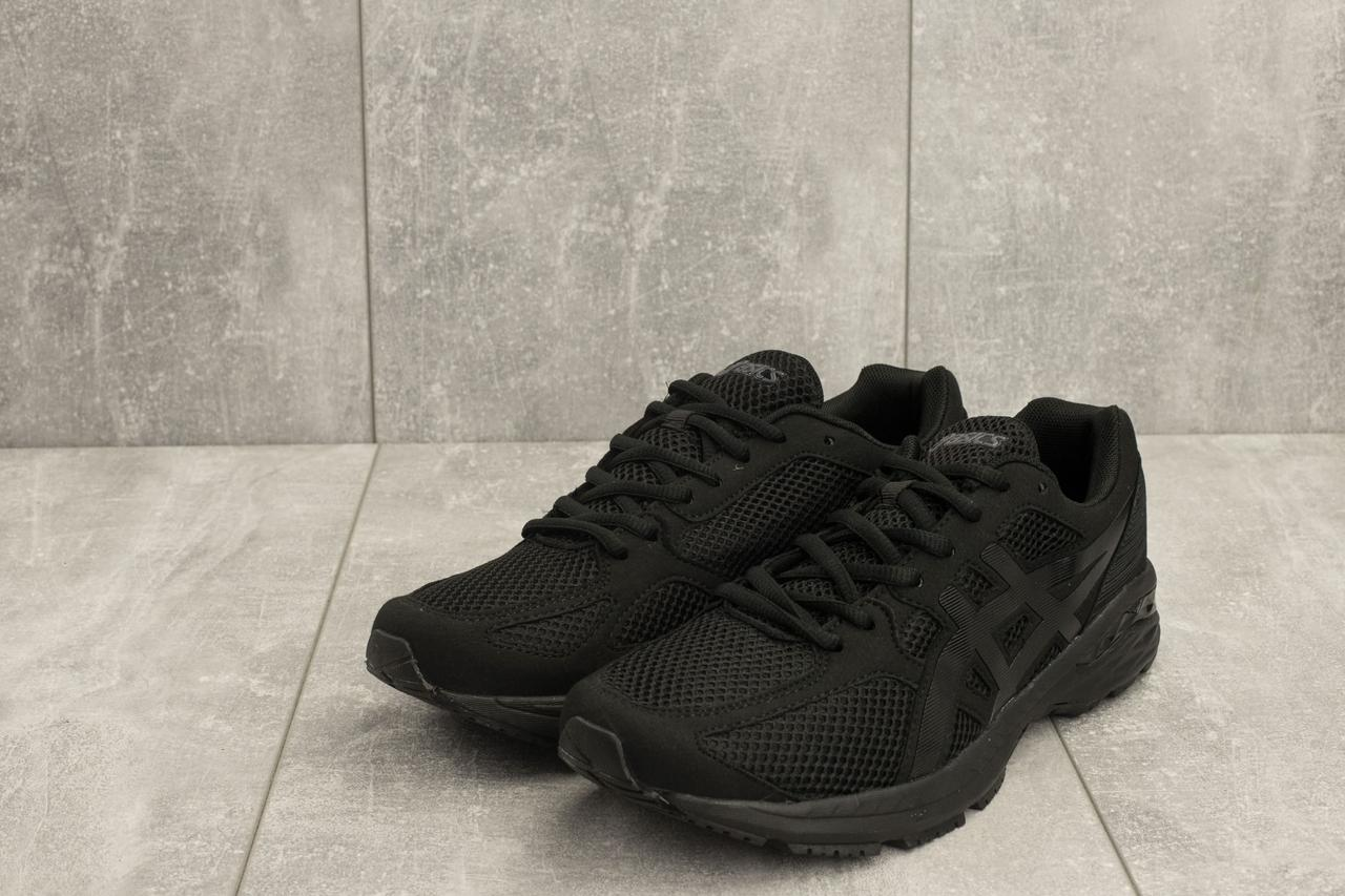 a05cf42cc41 Мужские кроссовки Asics текстиль спортивные повседневные качественные на  шнуровке (черные), ТОП-реплика