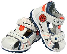 Детские кожаные босоножки для мальчика Clibee Польша размеры 20-25