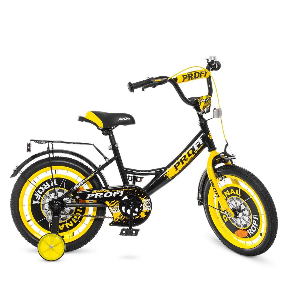 Велосипед детский PROF1 18д. Y1843 Черно - желтый
