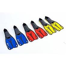 Ласты с закрытой пяткой (калоша цельная) 436 DORFIN LP-7 (желтый, синий, красный)