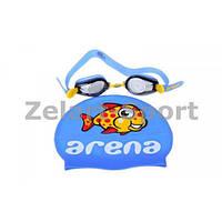 Набор для плавания детский: очки, шапочка NP-13 MULTI CMBI-ST 2 WD (поликарбонат, TPR,силикон)