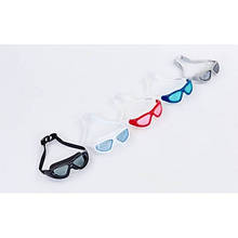 Очки (полумаска), беруши для плавания с застежкой SAILTO OK-5 (пластик, силикон, цвета в ассорт.)