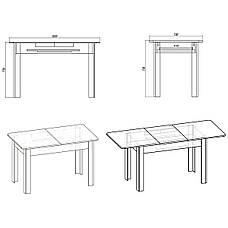 Кухонный стол КС-5 (раскладной стол) орех экко, фото 3