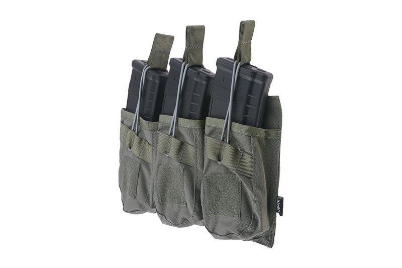 Тройной подсумок OPEN для магазинов AK - ranger green [Primal Gear] (для страйкбола)