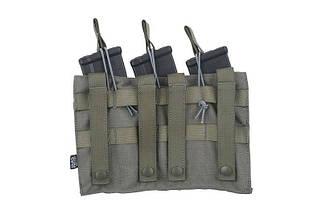Тройной подсумок OPEN для магазинов AK - ranger green [Primal Gear] (для страйкбола), фото 2