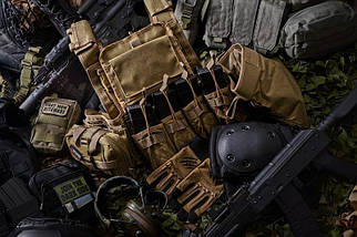 Тройной подсумок OPEN для магазинов AK - ranger green [Primal Gear] (для страйкбола), фото 3