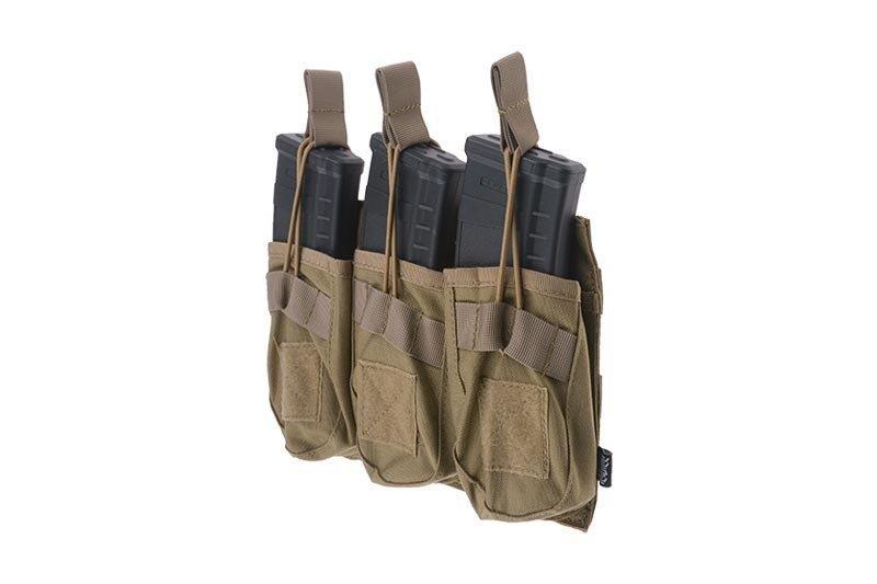Тройной подсумок OPEN для магазинов AK - tan [Primal Gear] (для страйкбола)