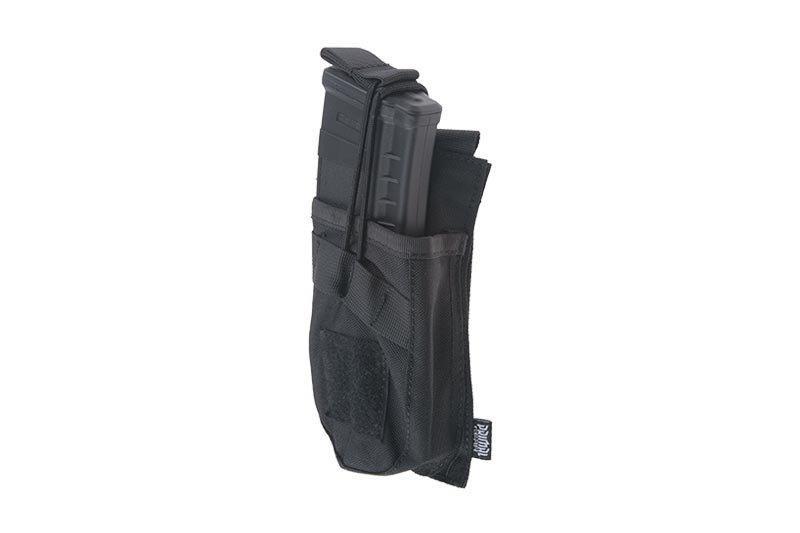Одинарный подсумок OPEN для магазина AK - black [Primal Gear] (для страйкбола)