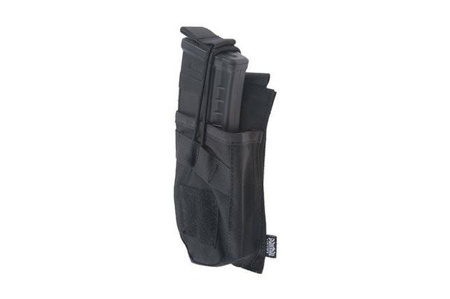 Одинарный подсумок OPEN для магазина AK - black [Primal Gear] (для страйкбола), фото 2